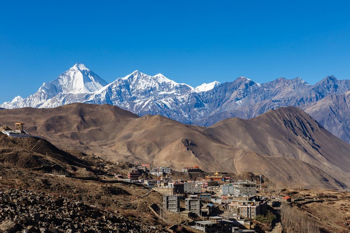 Muktinath-village-with-Dhaulagiri-peak