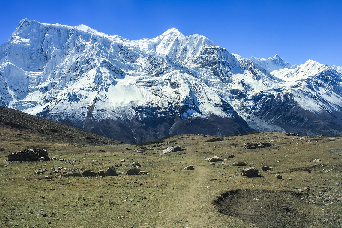 View-of-north-face-of-Annapurna-II-and-Annapurna-IV